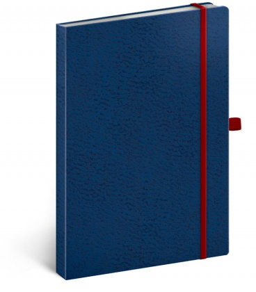Notebook A5 Vivella Classic blue, red, dotted 2020