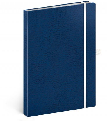 Notebook A5 Vivella Classic blue, white, dotted 2020