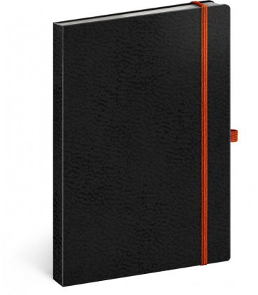 Notebook A5 Vivella Classic black, orange, lined 2020