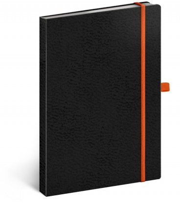 Notebook A5 Vivella Classic black, orange, dotted 2020