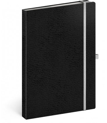 Notebook A5 Vivella Classic black, white, lined 2020
