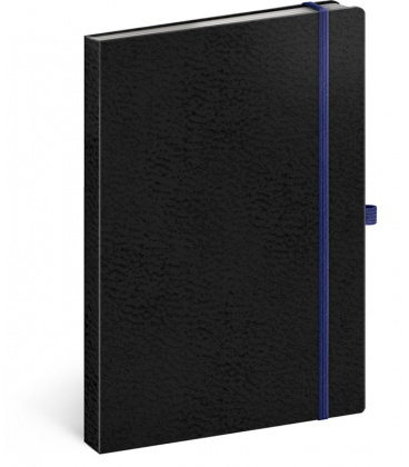Notebook A5 Vivella Classic black, blue, lined 2020