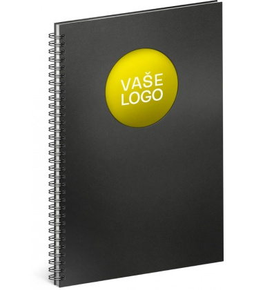 Notebook A4 Twin black, yellow, lined 2020