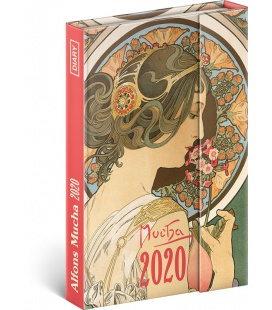 Magnetic weekly diary Alphonse Mucha 2020