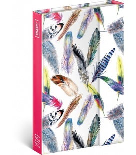 Magnetic weekly diary Feathers 2020