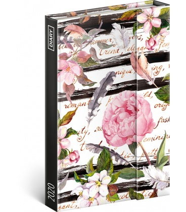 Magnetic weekly diary Peony 2020