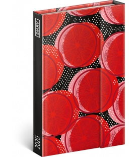Magnetic weekly diary Red 2020