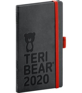 Weekly pocket diary Teribear black 2020