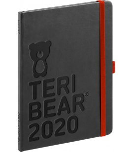 Weekly diary A5 Teribear black 2020