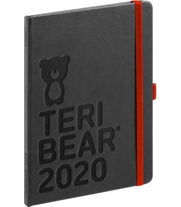 Weekly diary A5 Teribear black 2020