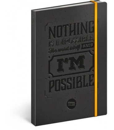 Notebook A5 Motivation, lined 2020