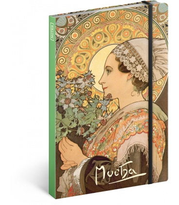 Notebook A5 Alphonse Mucha – Thistle, lined 2020
