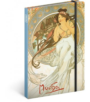 Notebook A5 Alphonse Mucha – Music, lined 2020