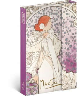 Notebook pocket magnetic Alphonse Mucha – La Dame, lined 2020