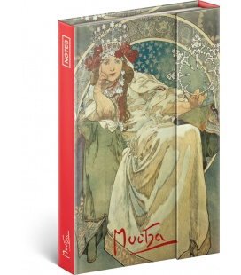 Notebook pocket magnetic Alphonse Mucha – Princess, lined 2020