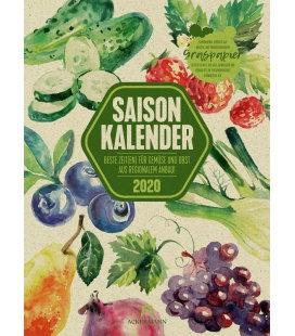 Wall calendar Saisonkalender - Obst & Gemüse - Graspapier-Kalender 2020