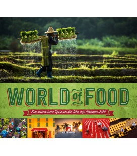 Wall calendar World of Food - Kulinarische Weltreise 2020