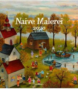 Wall calendar Naive Malerei 2020