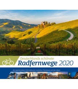 Wall calendar Deutschlands schönste Radfernwege 2020