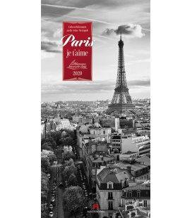 Wall calendar Paris, je t'aime - Literaturkalender 2020