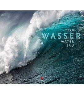 Wall calendar Wasser 2020