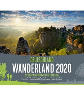 Wall calendar Deutschland Wanderland - Die schönsten Wanderwege 2020