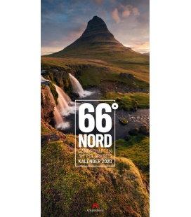 Wall calendar 66 Grad Nord - Landschaften am Polarkreis - Skandinavien 2020