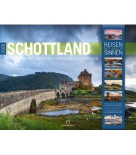 Wall calendar Schottland 2020