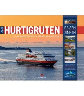 Wall calendar Hurtigruten - Norwegen 2020
