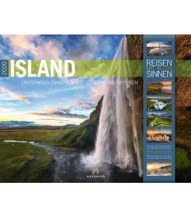 Wall calendar Island 2020