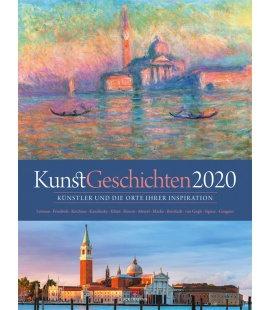 Wall calendar KunstGeschichten 2020