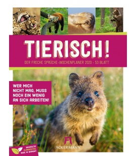 Wall calendar Tierisch Sprüchekalender - Wochenplaner 2020