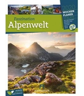 Wall calendar Faszination Alpenwelt - Wochenplaner 2020