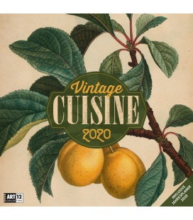 Wall calendar Vintage Cuisine 2020