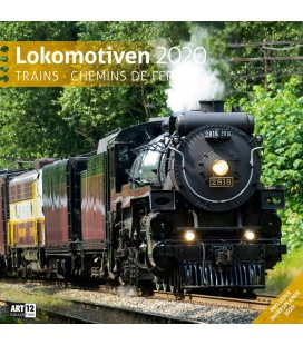 Wall calendar Lokomotiven 2020
