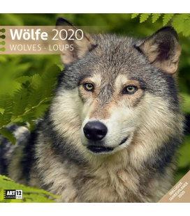 Wall calendar Wölfe 2020