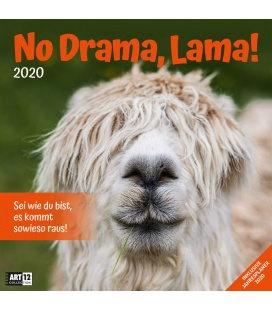 Wall calendar No Drama, Lama! 2020