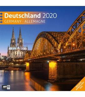 Wall calendar Deutschland 2020