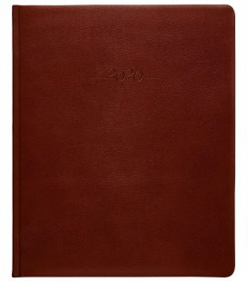 Leather diary Prezident weekly Carus brown 2020