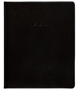 Leather diary Prezident weekly Carus black 2020