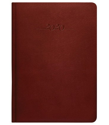 Leather diary A5 daily Carus brown 2020