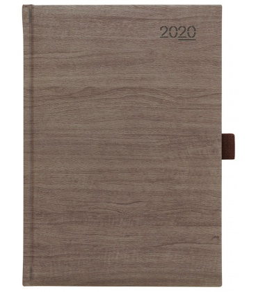 Daily Diary A5 Wood brown 2020