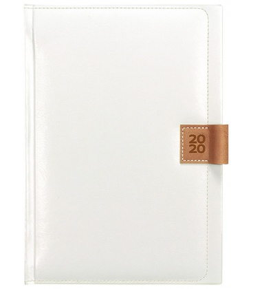 Daily Diary A5 Nody white, brown 2020