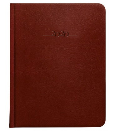 Leather diary B6 daily Carus brown 2020