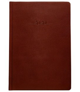 Leather diary B5 weekly Carus brown 2020