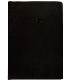 Leather diary B5 weekly Carus black 2020