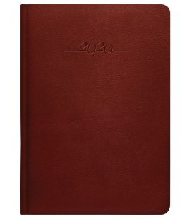 Leather diary A5 weekly Carus brown 2020