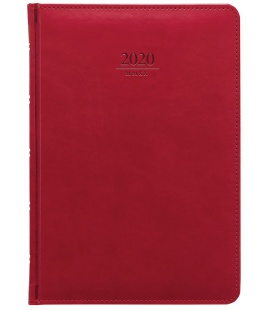 Weekly Diary A5 Gemma red 2020