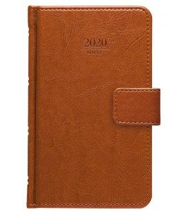 Weekly Pocket Diary Kastor s poutkem brown 2020