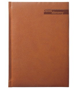 Diary A5 Daily Notes  Denní záznamy A5 brown 2020